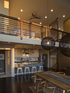 Modern Home Loft Lighting Design, Pictures, Remodel, Decor and Ideas Loft Railing, Railing Design, Loft Design, House Design, Railings, Balcony Railing, Indoor Railing, Modern Railing, Railing Ideas