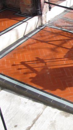 Victorian Homes Exterior, Porch Tile, Victorian Tiles, Tile Design, Garden Paths, Tile Floor, Mosaic, Floor Plans, Patio