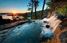 Hermoso lago Tahoe.