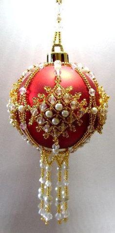 Y110 Bead PATTERN Beaded Buckingham Christmas Ornament Cover ...
