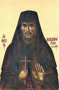 Saint Nikephoros the Leper Byzantine Art, Byzantine Icons, Religious Icons, Religious Art, Saint Barbara, Famous Novels, Religious Paintings, Best Icons, Orthodox Christianity