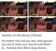 No one likes bobs bug stories Old Disney, Disney Live, Disney Stuff, Funny Memes, Hilarious, Jokes, Disney Channel Shows, Old Shows, Disney Memes