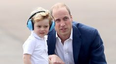 Prince George joined William and Duchess Kate at the Royal International Air Tattoo, and it looks like the little boy is next in line for a love of flight.