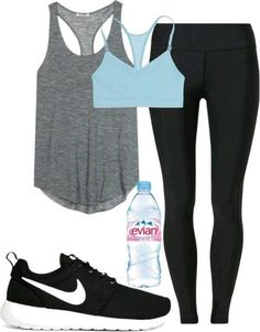 Workout outfit workout clothes sport outfits, fashion shoes e workout attir Summer Workout Outfits, Workout Attire, Workout Wear, Summer Outfit, Workout Tanks, Workout Style, Casual Summer, Nike Workout Gear, Pink Workout
