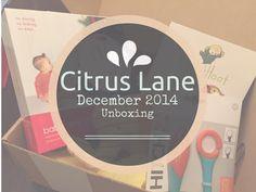 Citrus Lane December 2014 #Unboxing - Craftulous | #CitrusLane #unboxingvideo #subscriptionbox #babybox