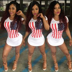 >> Click to Buy << Women summer Short beach t shirt dress 2017 American Flag Print white sexy club bandage party dresses Plus size women clothing #Affiliate