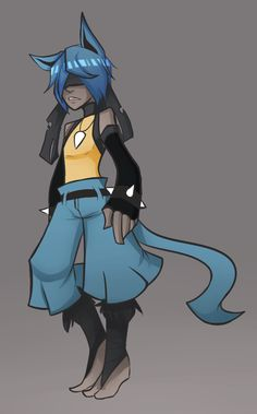 human version gijinka pokemon, lucario