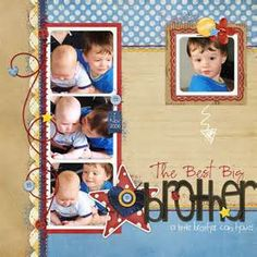 scrapbooking brothers layouts