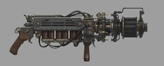 Guns and Props — Steven Wen's Art and Stuff Fallout Weapons, Weapons Guns, Techno, Wasteland Warrior, Steampunk Weapons, Medieval, Gun Art, Steampunk Accessories, Military Guns
