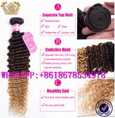 2016 Best Selling and More Popular hair,Ombre body wave hair weft, Which enjoy one good reputation among clients by the beautiful color&style, top quality&competitive price. Hope every one like it and welcome more view from u, friend.