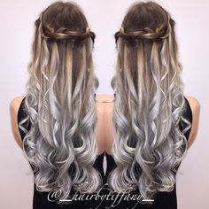 Silver ombre by Tiffany VanEeckhoute @_hairbytiffany_!  http://www.haircolorsideas.com/bright-hair-colors/gray-hair/silver-spring/