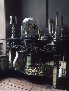 Elegant Gothic Home Interior Design Ideas 02 Gothic Interior, Home Interior Design, Interior Decorating, Interior Office, Modern Interior, Dark Home Decor, Goth Home Decor, Gypsy Decor, Gothic Furniture