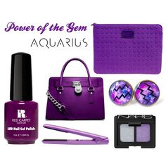 """""""Let's hear it for the Aquarius' out there! Show off your sign with all things Amethyst + the LED gel polish from our Power of the Gem collection #RCMNailIt"""""""