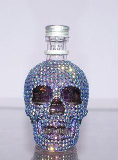 CRYSTAL SKULL BOTTLE / Rhinestone Perfume Bottle   by diamantediva, £50.00