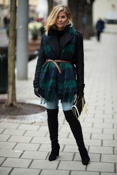 Style....Janka Polliani // over the knee boots winter style
