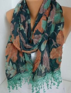 ON SALE Infinity Scarf Shawl Circle Scarf Loop Scarf by fatwoman