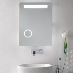 If you want the everyday use of a mirror, but the convenience of a magnified makeup mirror, the Vanita and Casa Lighted Vanity Mirror with Magnification takes the best of both worlds and wraps it up into one seamless package. http://www.ybath.com/blog/nameeks-modern-mirrors-medicine-cabinets/