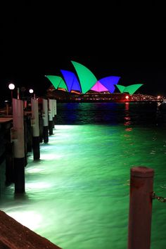 The Sydney Opera House lit up for Vivid Sydney 2015 captured by Amanda Asquith   https://dashburst.com/ajstarr/24
