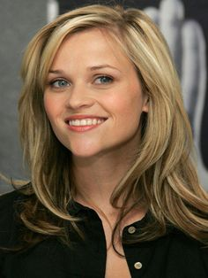 Reese Witherspoon; use an anti frizz/smoothing cream 1:1 cocktail into damp hair. twirl sections  with fingers and blow dry for loose relaxed/casual long hair look