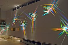 Mosaic Glass, Glass Art, Stained Glass, Art Beat, New Media Art, Light Painting, Light Art, Op Art, Installation Art