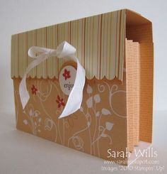 Card box w/ tutorial-for all the cards that didn't sell at the craft show...this yrs Christmas gifts