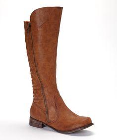 Cognac Grace Boot