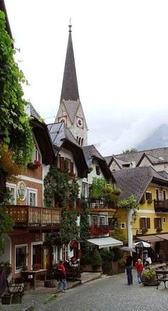 🌟Tante S!fr@ loves this📌🌟~Hallstatt, Austria~ I've been to this adorable, ancient, salt-mining town.gorgeous and beautiful journey through the Austrian Alps to get there! Places Around The World, Oh The Places You'll Go, Travel Around The World, Places To Travel, Places To Visit, Around The Worlds, Wonderful Places, Beautiful Places, Hallstatt