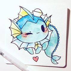sailor vaporeon! #inktober (also available for adoption) adopted by @fromkino