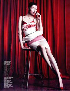 Fei Fei Sun photographed by Willy Vanderperre for Vogue China April 2013