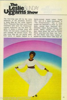 1969 Guide Ad The Leslie CBS TV Debut Leslie Uggams, Tv Guide, Comedy, Ads, Singer, Fill, Singers, Comedy Theater, Comedy Movies