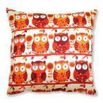 Orange Owl Cushion