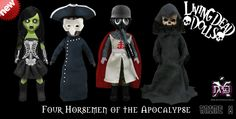 We LOVE Living Dead Dolls! These incredible dolls are selling fast so make sure you get your set here-->http://www.neo-geishax.com.au/living-dead-dolls-four-horsemen-of-the-apocalypse/prod_1654.html