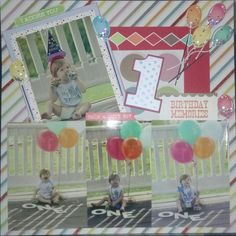 Scrapbook layout....happy birthday