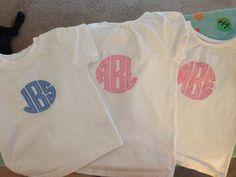 Circle monogram shirts