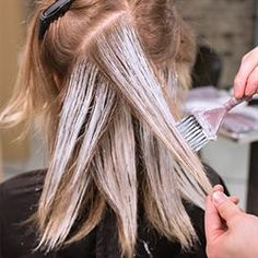 COLOR TECHNIQUE — Subtle to-the-root balayage... light touch application to sections that are perpendicular to the one below, more saturated application on ends. (Guy Tang)