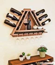 DIY vine rack
