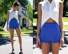 Electric blue (by Meagan McCaffery) http://lookbook.nu/look/2118277-electric-blue