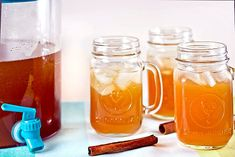 Apple Pie Moonshine:  2 qts. apple juice  2 qts. apple cider  1 cup brown sugar  1 cup sugar  3 cinnamon sticks  2 cups everclear  1 cup whipped cream vodka
