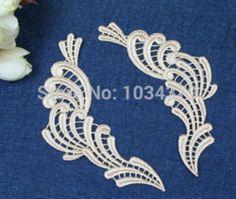 Online Shop 3 pares 11 X 3.6 cm bege colar canto flor motivo Floral Venise veneza Lace Applique BD0116 Aliexpress Mobile