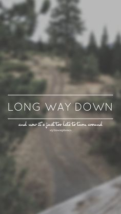 Long Way Down // One Direction // ctto: @stylinsonphones (on Twitter)