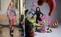 It was a delight, if not a surprise, to spy the work of Niki de Saint Phalle on Peter Dundas's fall mood board. The pairing makes perfect sense: Not only was the artist the subject of a just closed exhibition in Paris, but her exuberant work falls right in line with the Italian house's famous prints, and their love of pattern and color.