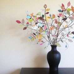 HOW TO MAKE A SCRAP PAPER TREE.
