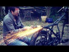 Cafe Racer Build Part 3, Frame Cutting, 78 Suzuki GS550 - YouTube