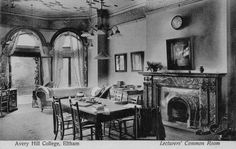 Avery Hill College Eltham. Lecturers Common Room early 20c.