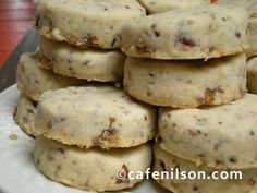 Pecan Shortbread cookies