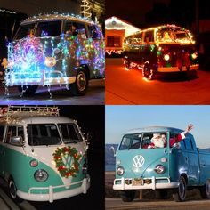Who knew, Santa loves VW Campers too! hehe... Camping with Christmas lights is kinda cool too ;)