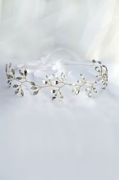 crystal headpiece, crystal tiara, winter wedding hair accessories, crystal crown, winter bride