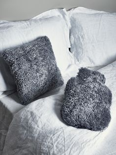 Luxe Grey Curly Sheepskin Cushion