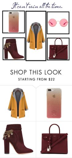 """Autumn..."" by ivan-fedorov on Polyvore featuring мода, WithChic, Kate Spade, Aquazzura, Yves Saint Laurent и Ray-Ban"