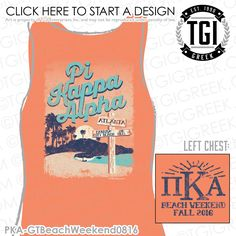 TGI Greek - Pi Kappa Alpha - Greek Apparel - #PiKappaAlpha #BeachWeekend